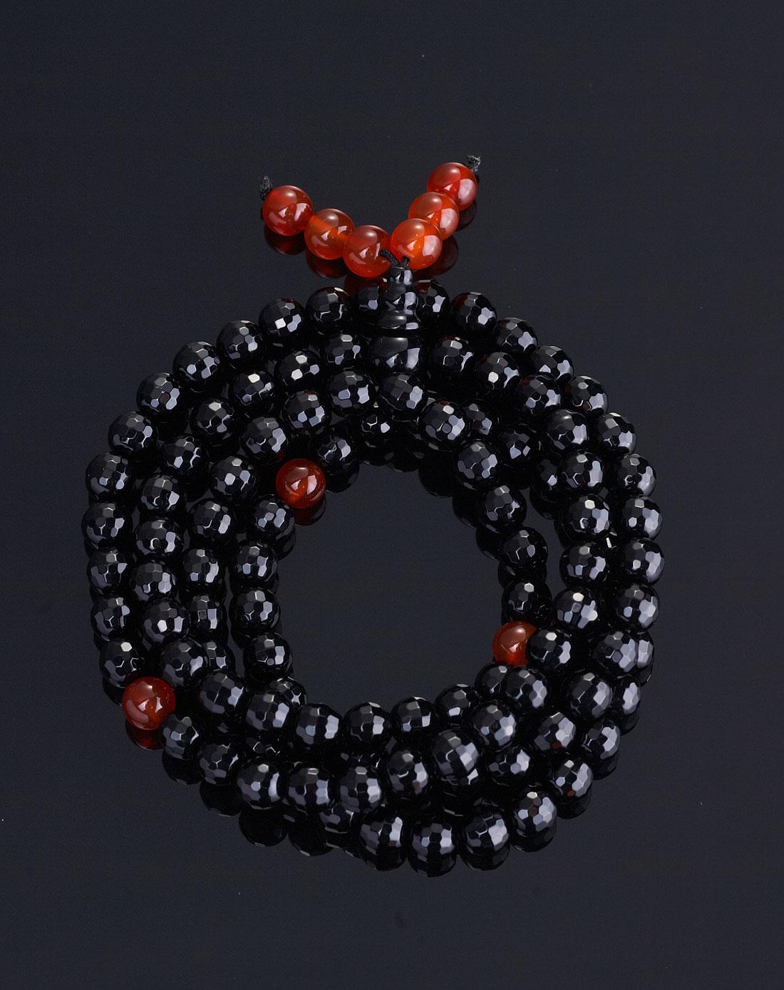 天然黑玛瑙珠链圆珠6mm108颗手链