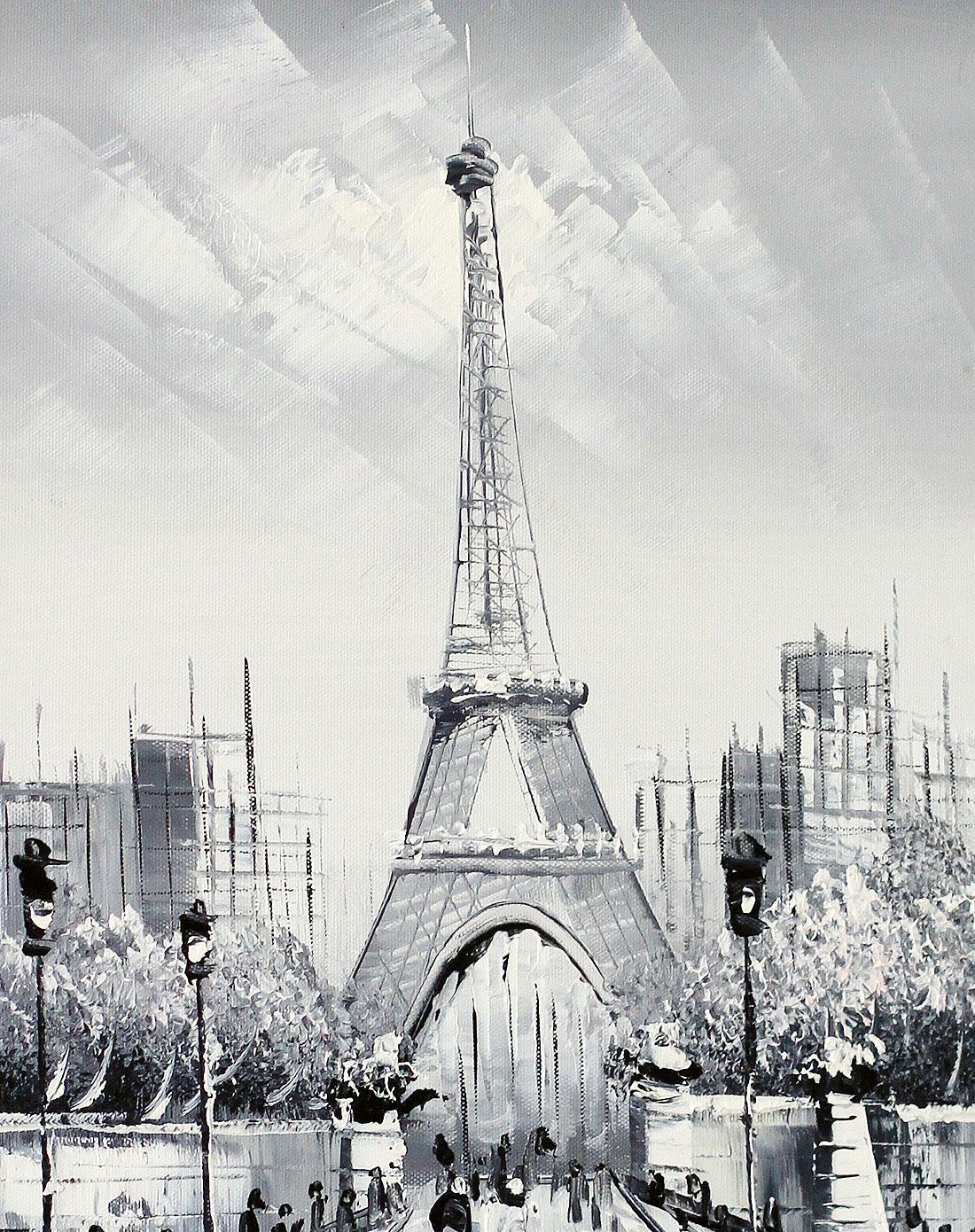 《埃菲尔铁塔》纯手绘油画限量版p60005
