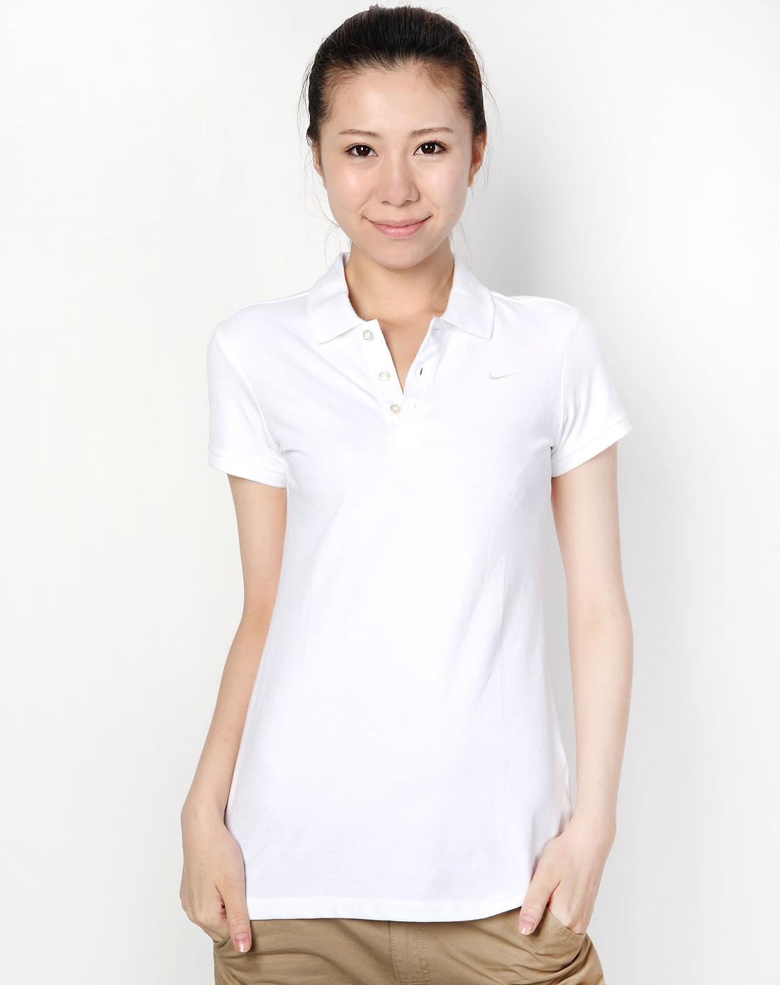 简单白色短袖女