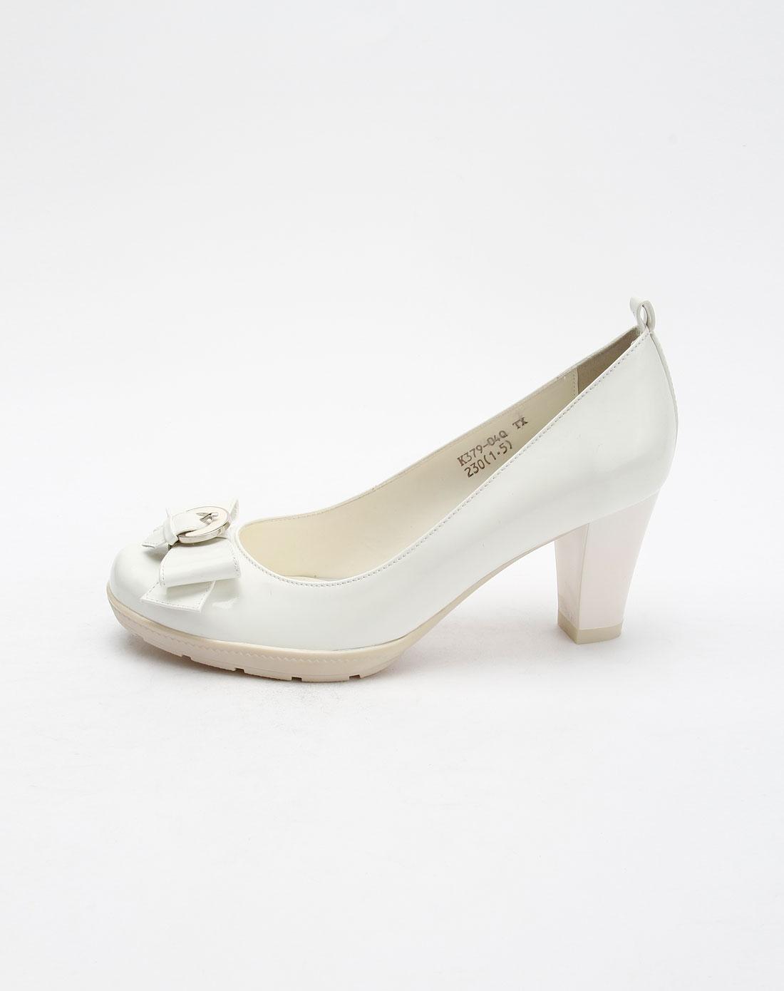 女款白色時尚高跟鞋圖片