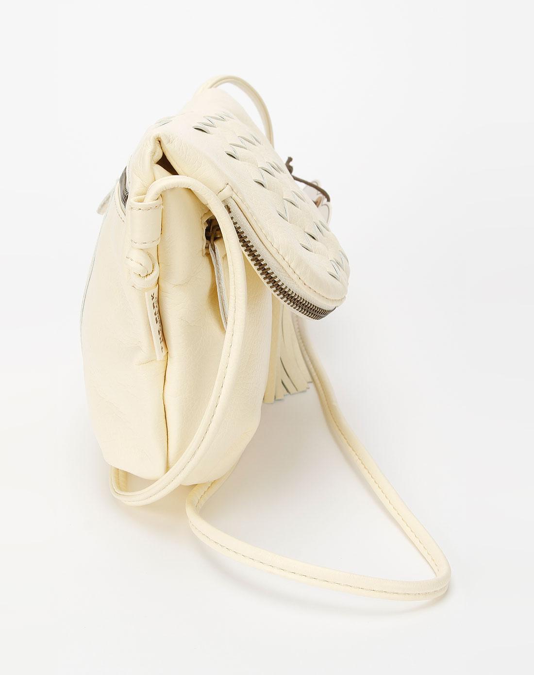 象牙白色时尚可爱斜挎包