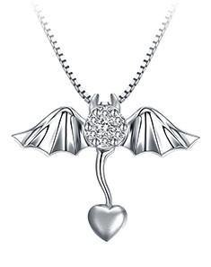 18k金天使恶魔系列钻石吊坠-恶魔之翼图片