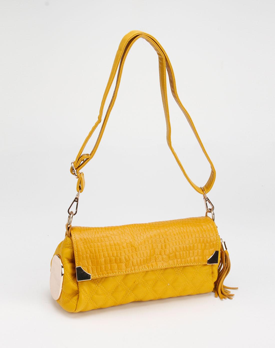 黄色菱形格子系列时尚斜挎包