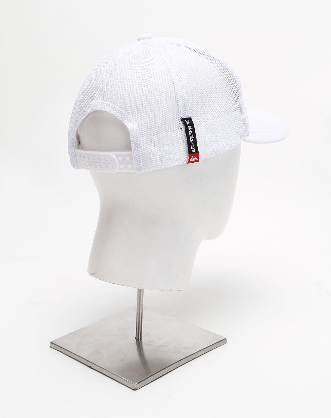 白色休闲压纹帽子