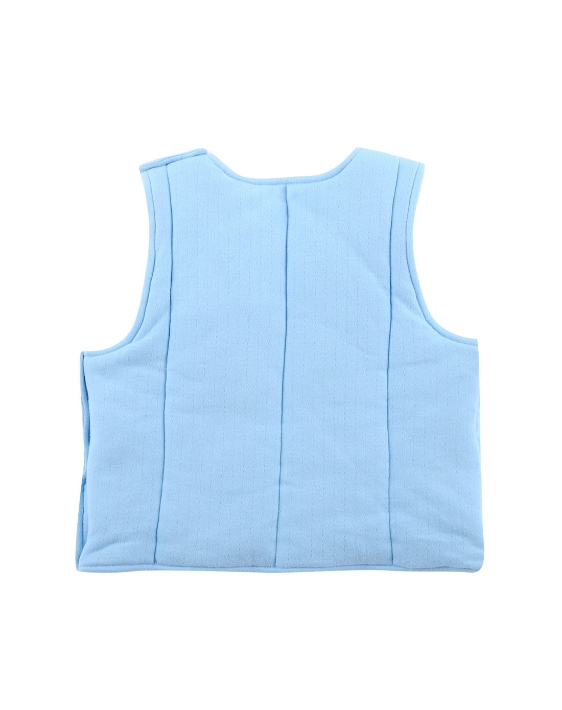 棉花熊婴儿针织纯棉背心 蓝色