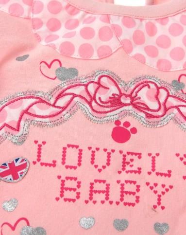 女童浅粉色可爱卡通长袖t恤