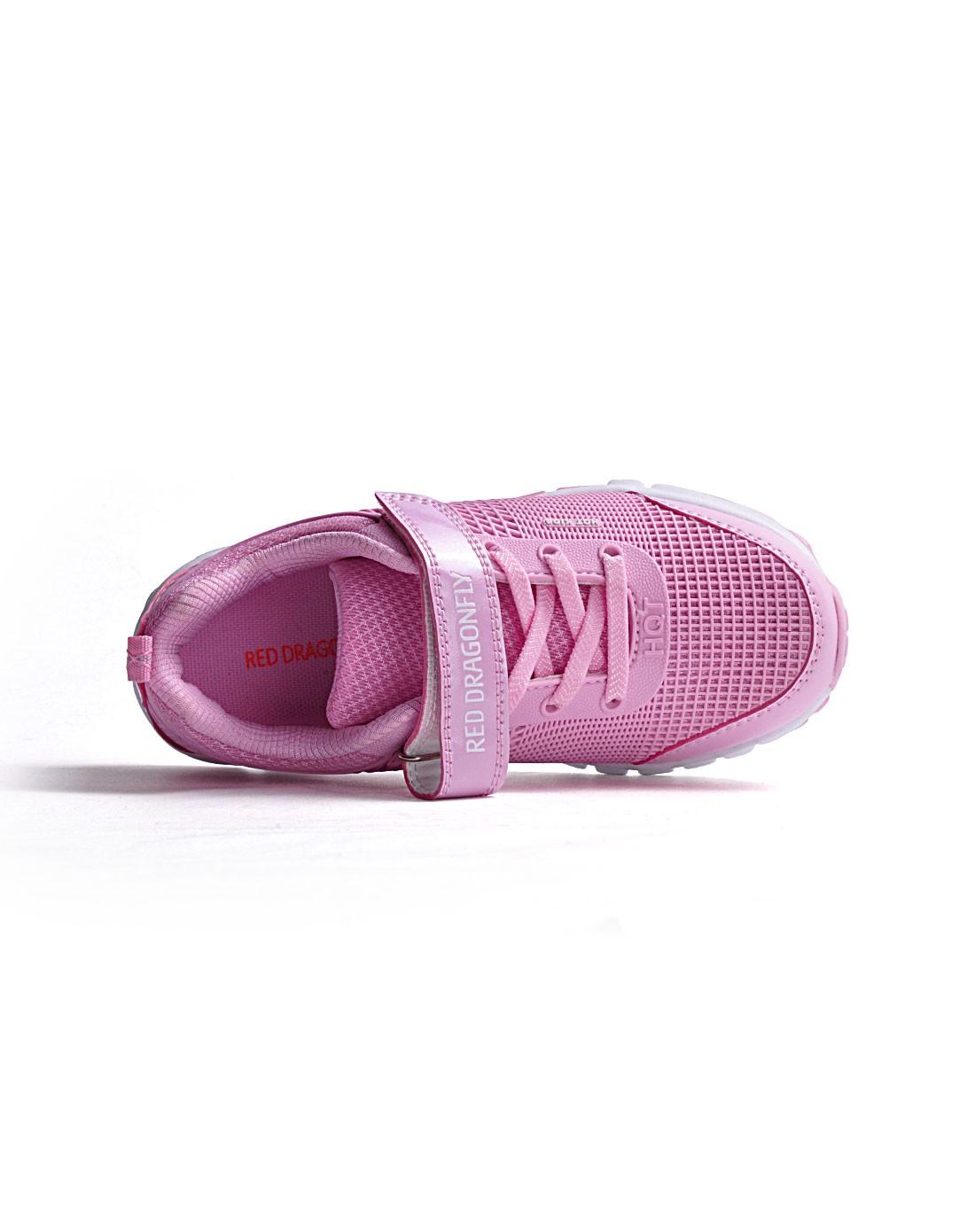 女中童粉红色运动鞋