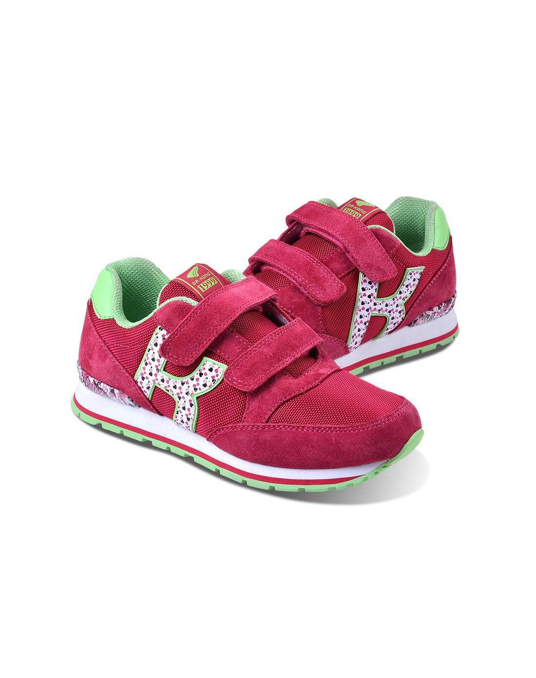 江博士儿童鞋包专场女桃红色儿童运动鞋c614303-chr