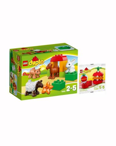 乐高lego 农场小动物+苹果拼砌包2-5岁