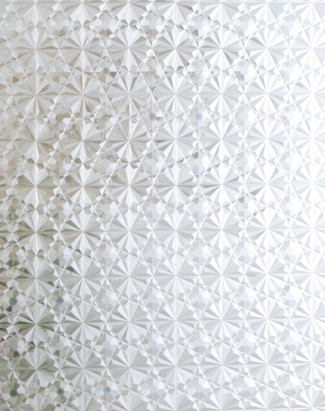 3d钻石花纹静电玻璃贴60cm*2m