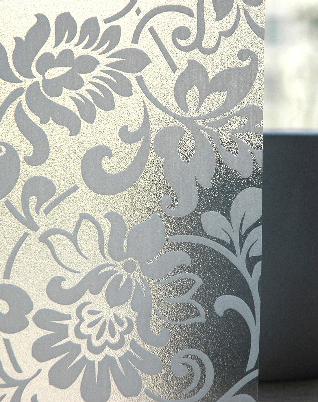 白色花纹静电玻璃贴60cm*2m