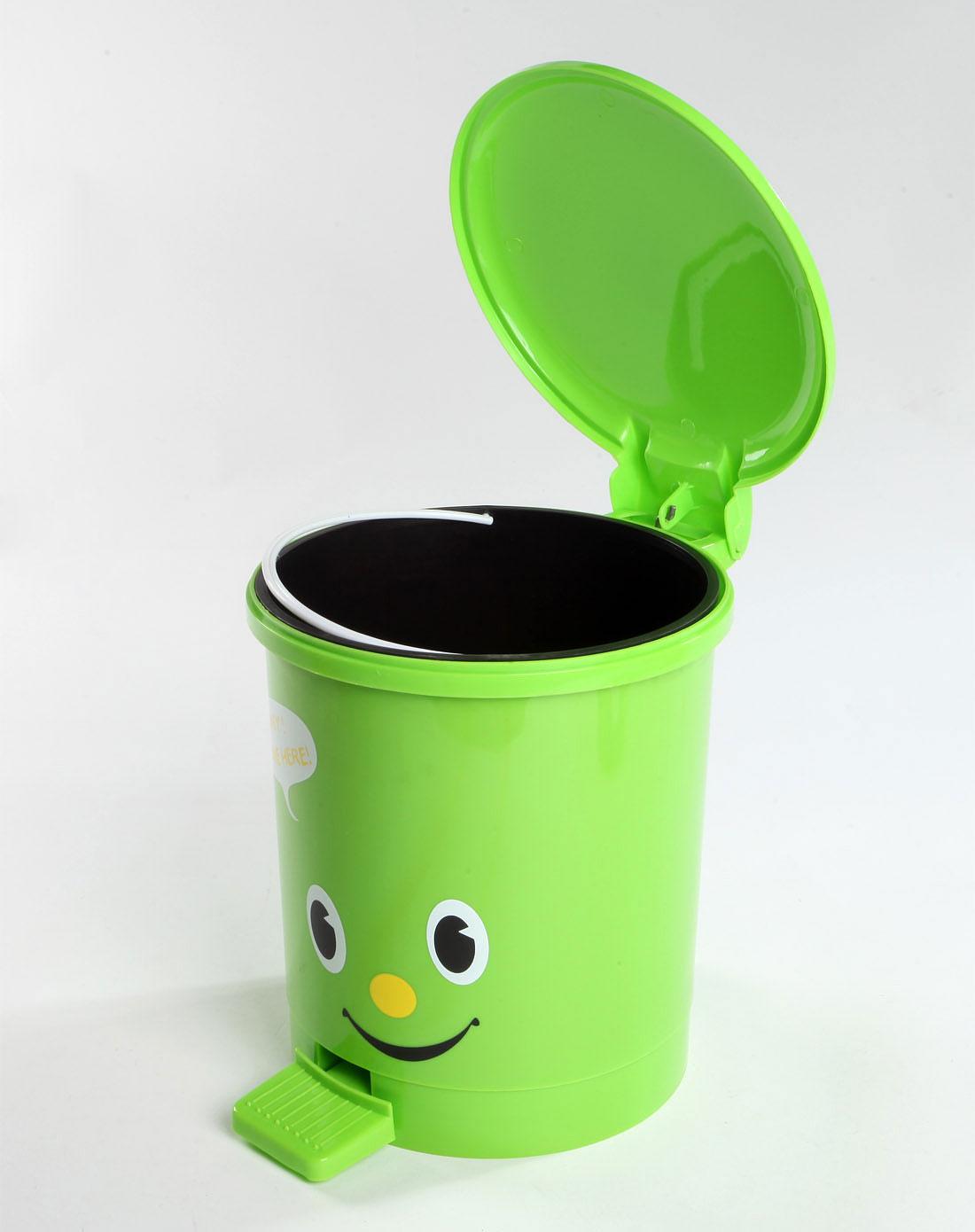 h&3家居用品专场3l脚踏式优质垃圾桶绿色