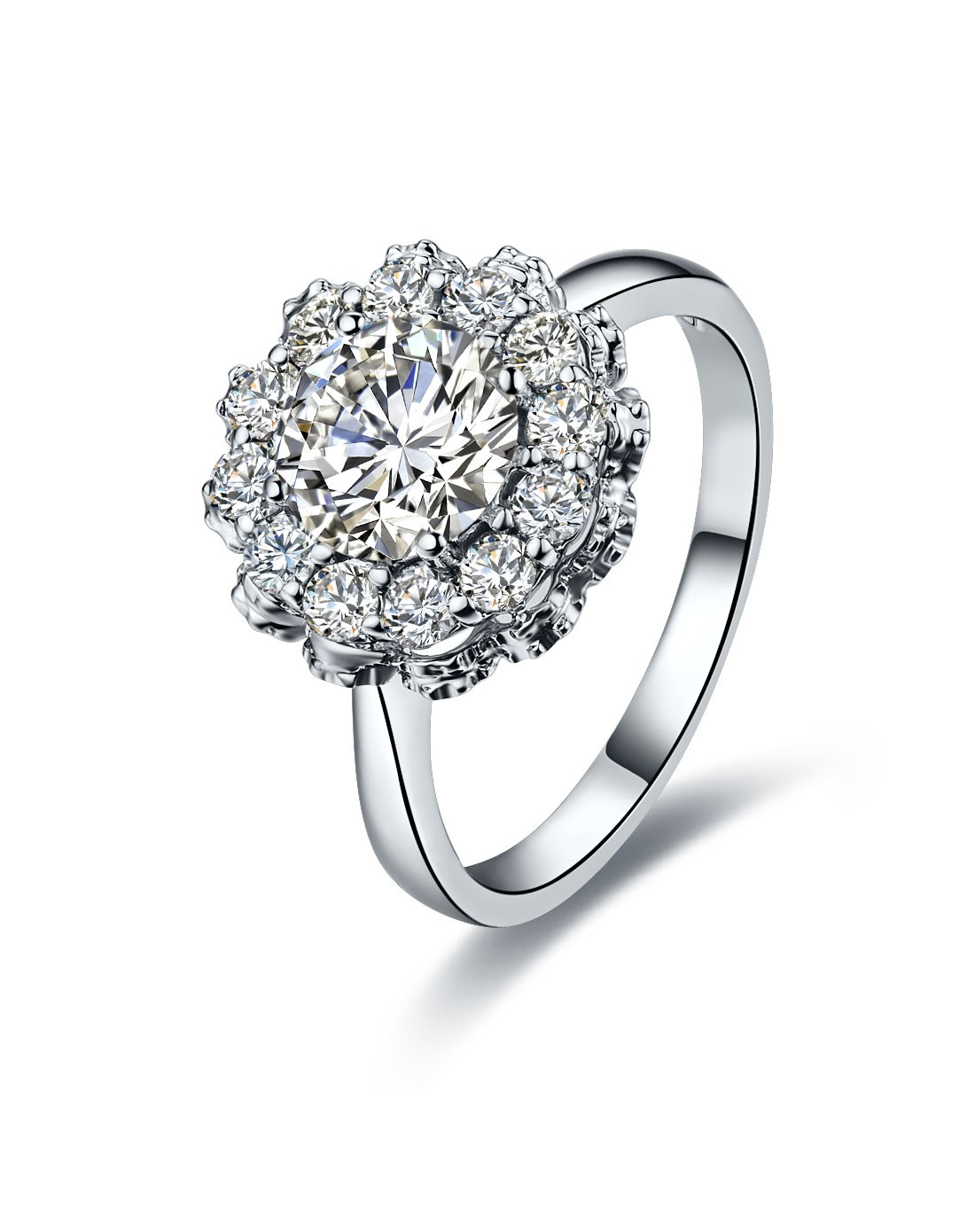 爱度DOIDO珠宝专场1.43克拉18K金钻石女戒-