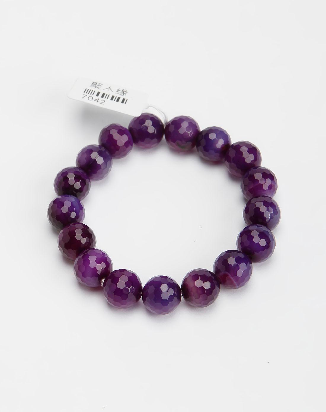 聚木缘紫色菱形紫水晶手链7042