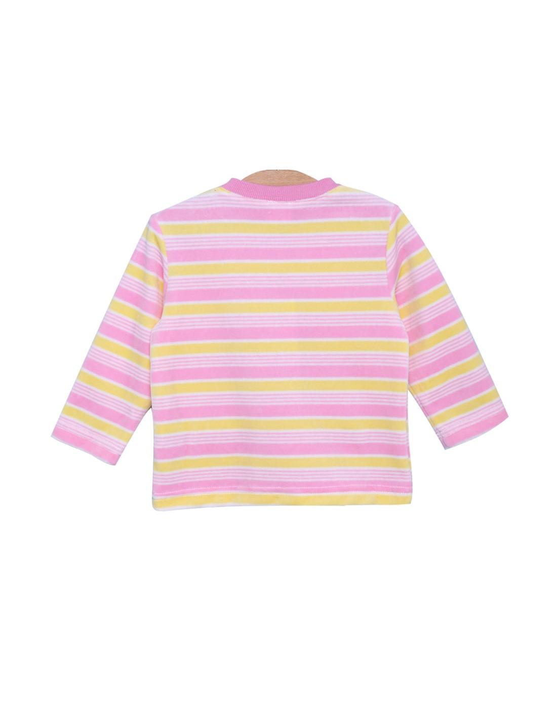 巴布豆 中性浅粉色卡通可爱t恤