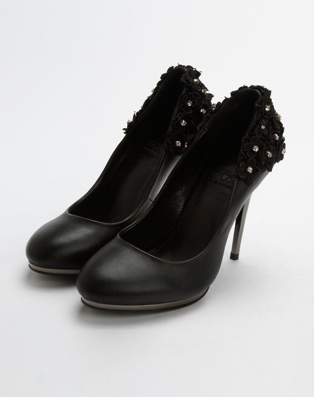 迈思mux女鞋专场女款黑色时尚超高跟鞋