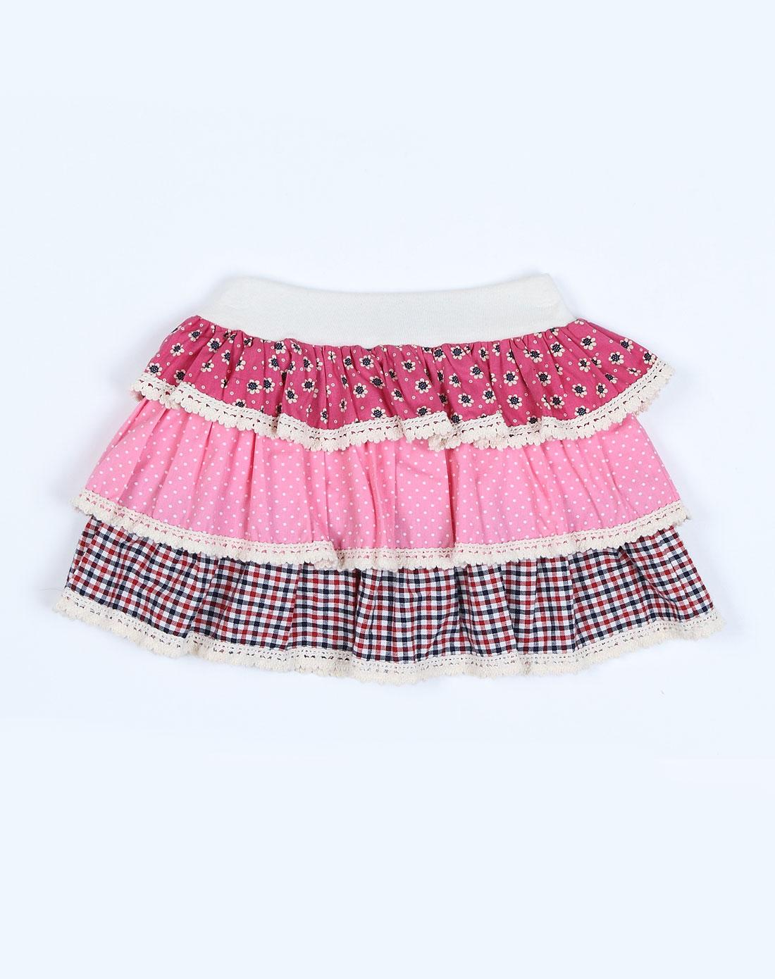 女童彩色短裙