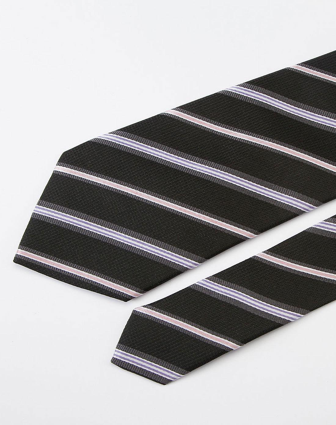 黑色斜条纹时尚领带