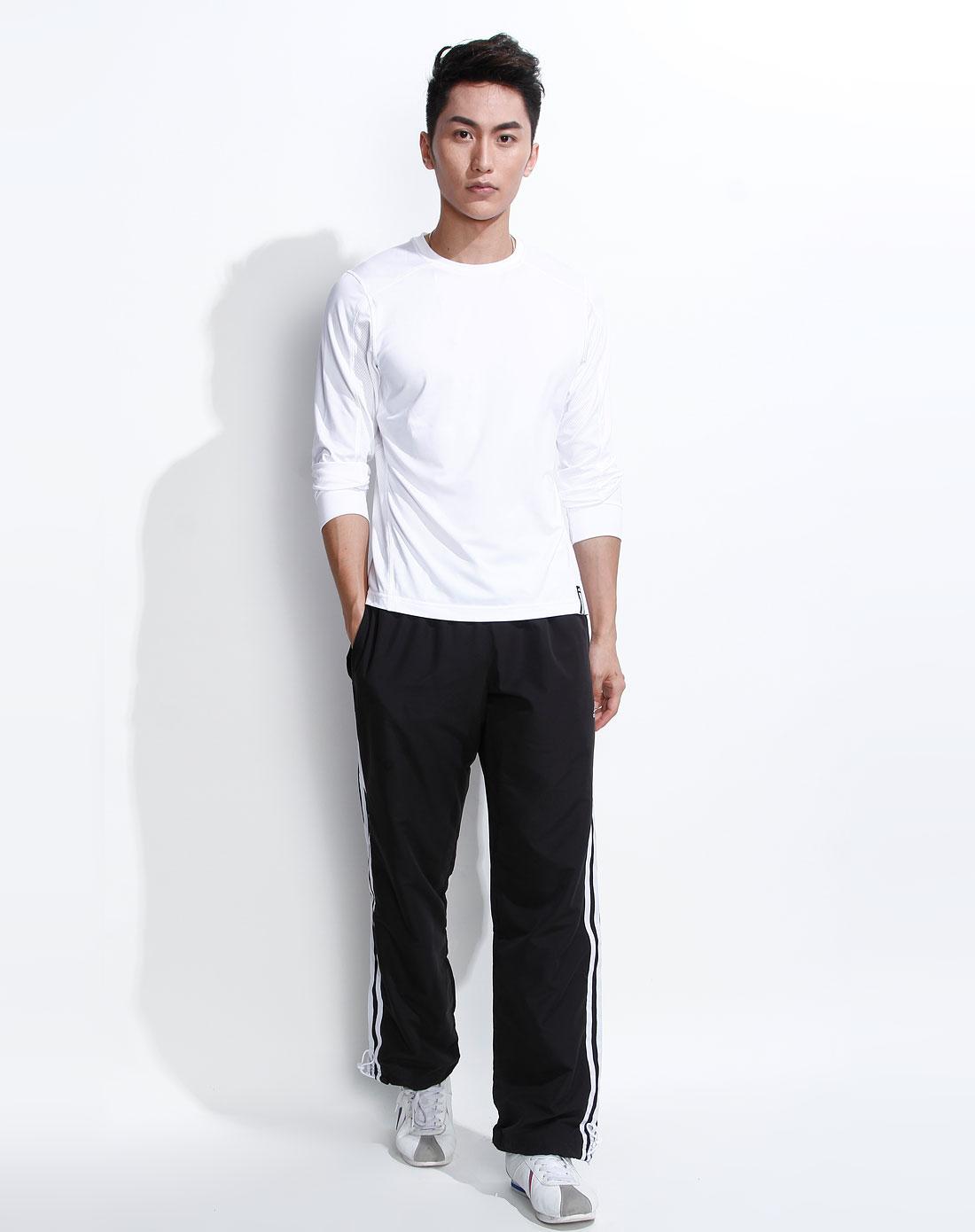 男款白色时尚长袖t恤