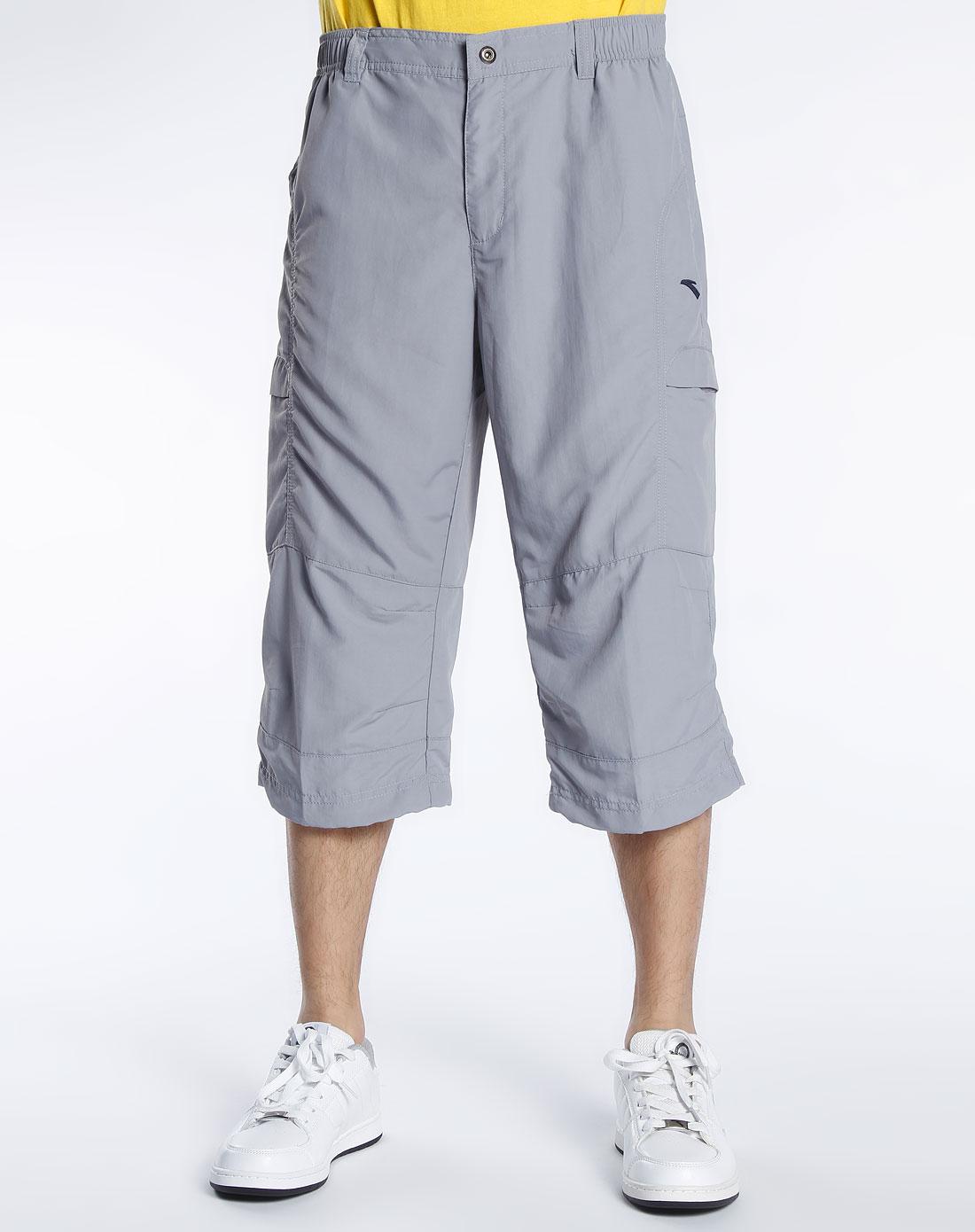 安踏anta男女装混合专场-男款 中灰色七分裤