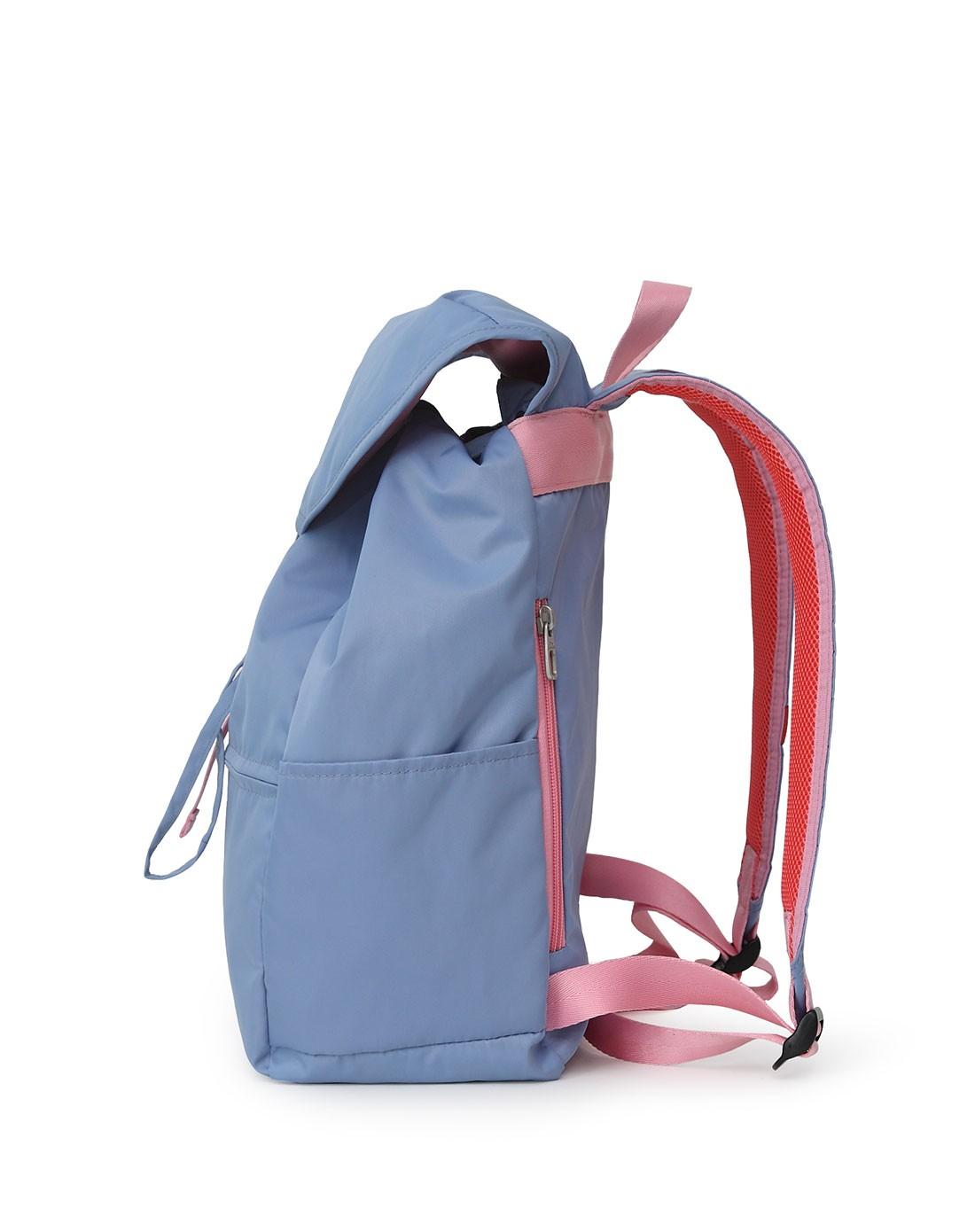 2015新款女款蓝色翻盖水桶双肩包