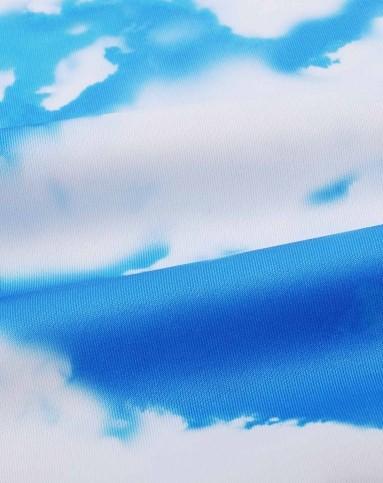 手机天蓝色花纹背景图片