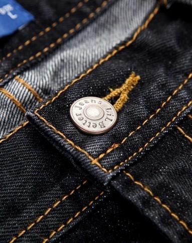 黑色民族风刺绣牛仔长裤