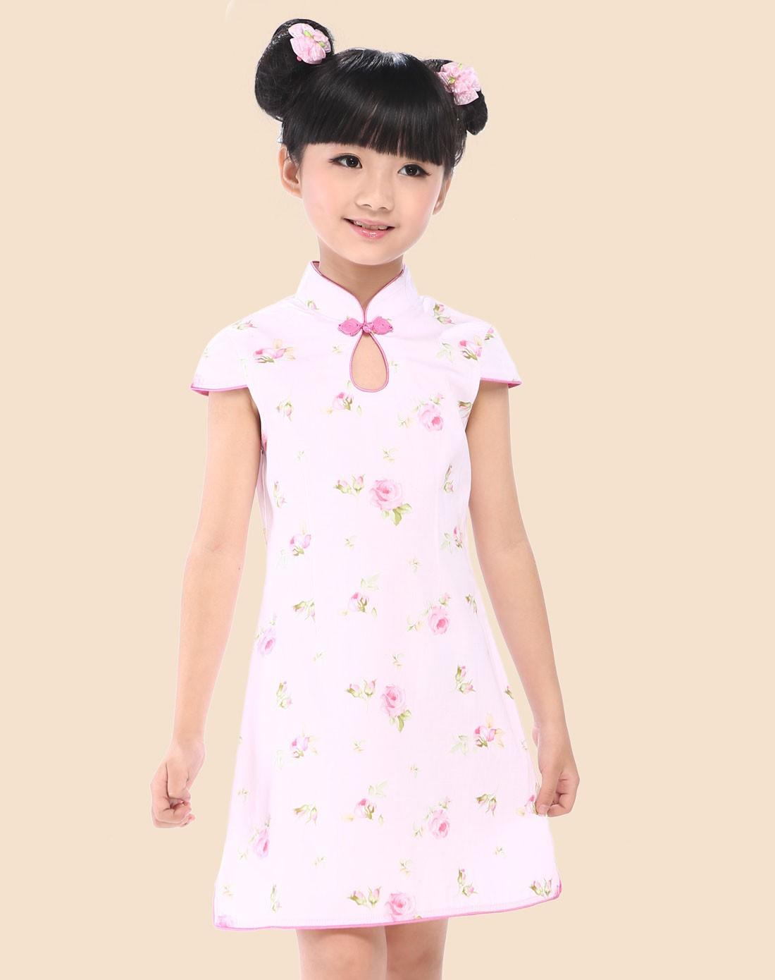 花江南水乡水滴领旗袍裙x1