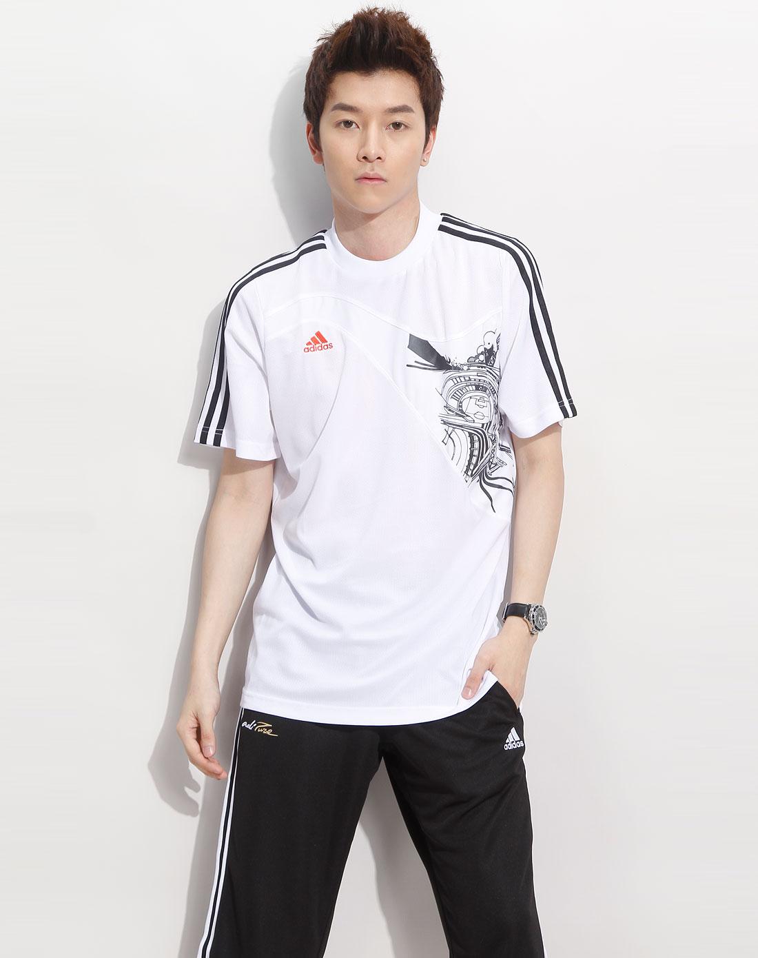 白色足球短袖t恤