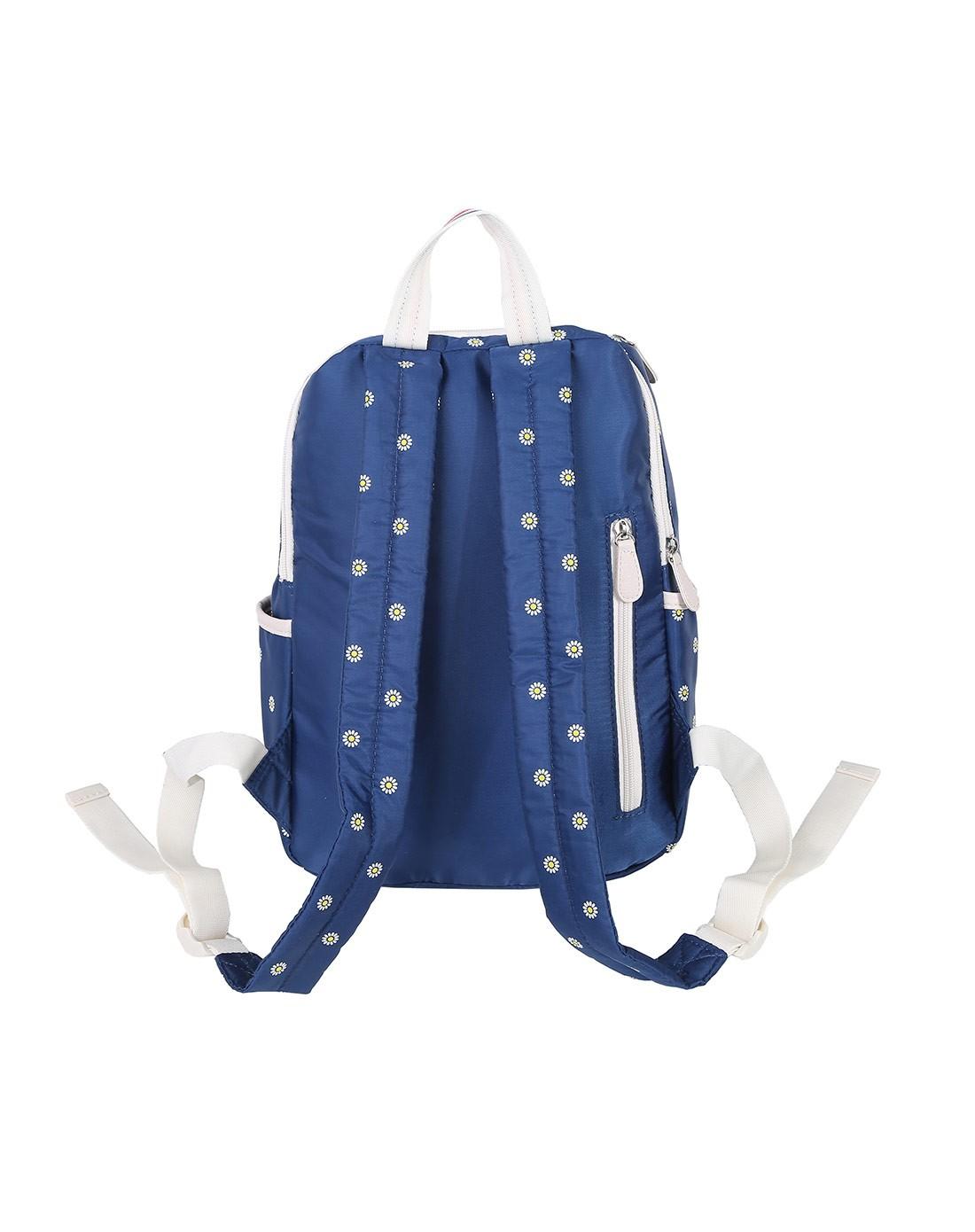 背包专场女蓝色太阳花纹