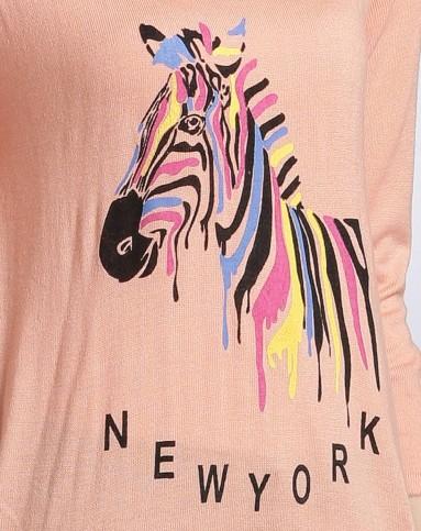粉色可爱图案优雅上衣