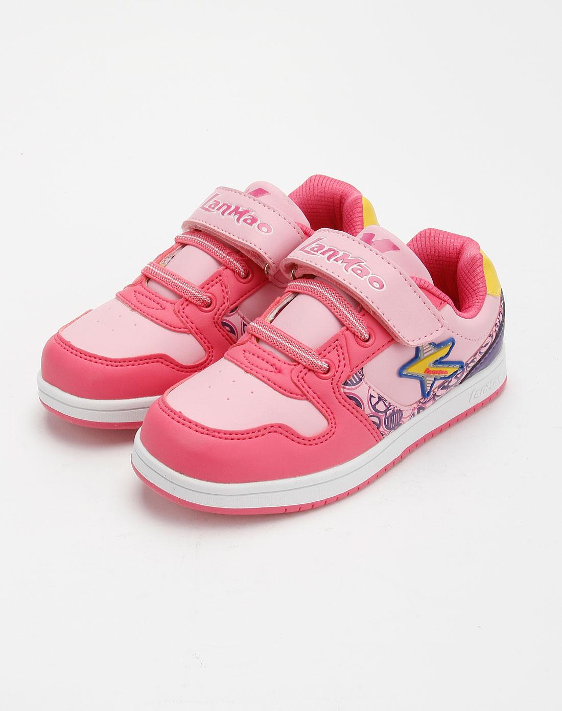 女童粉红玫红运动鞋