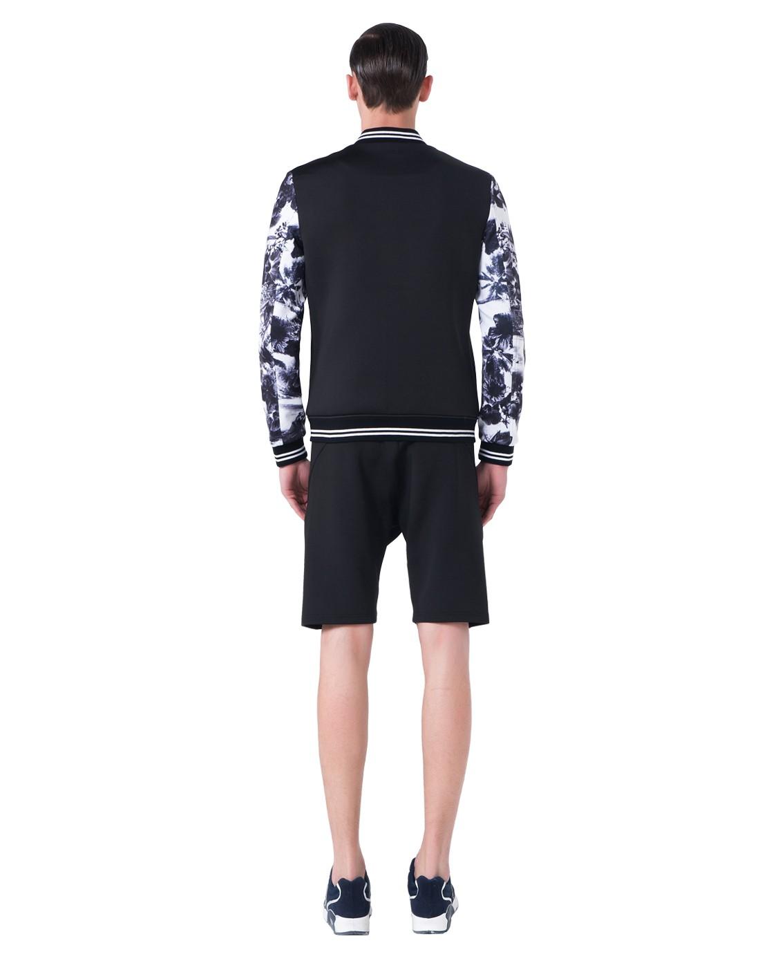 15新款黑色长袖仙鹤刺绣卫衣棒球服外套