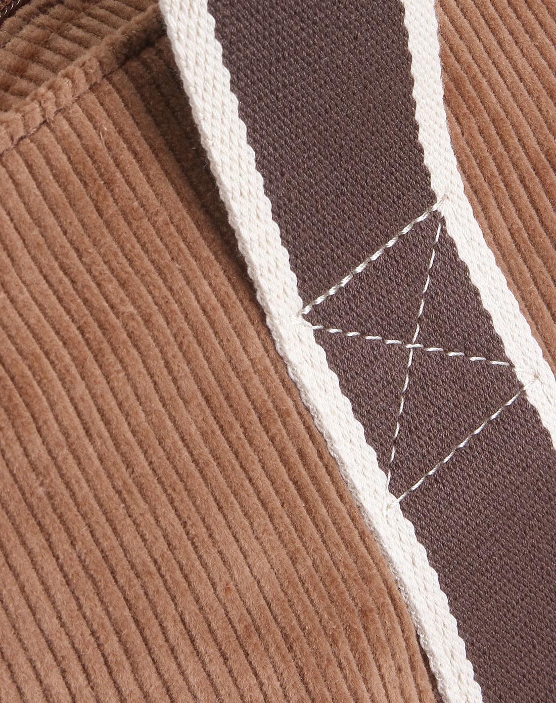 中性款棕色灯芯绒手提袋