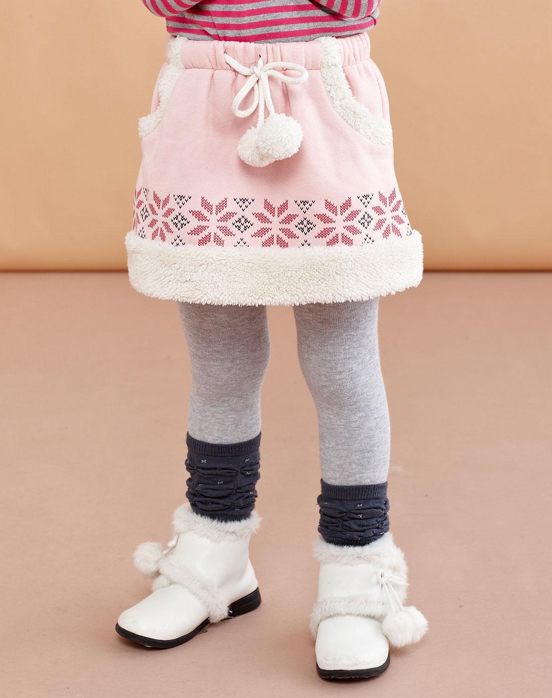 女童浅灰色完美女生连裤袜