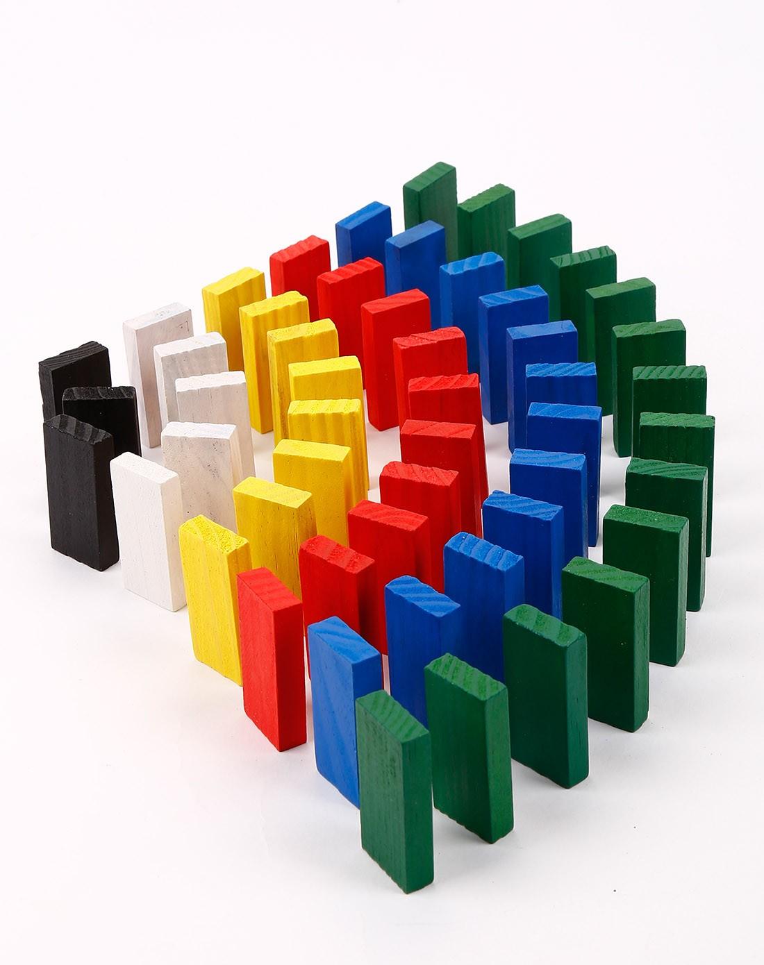 多彩原木标准牌120个装多米诺骨牌