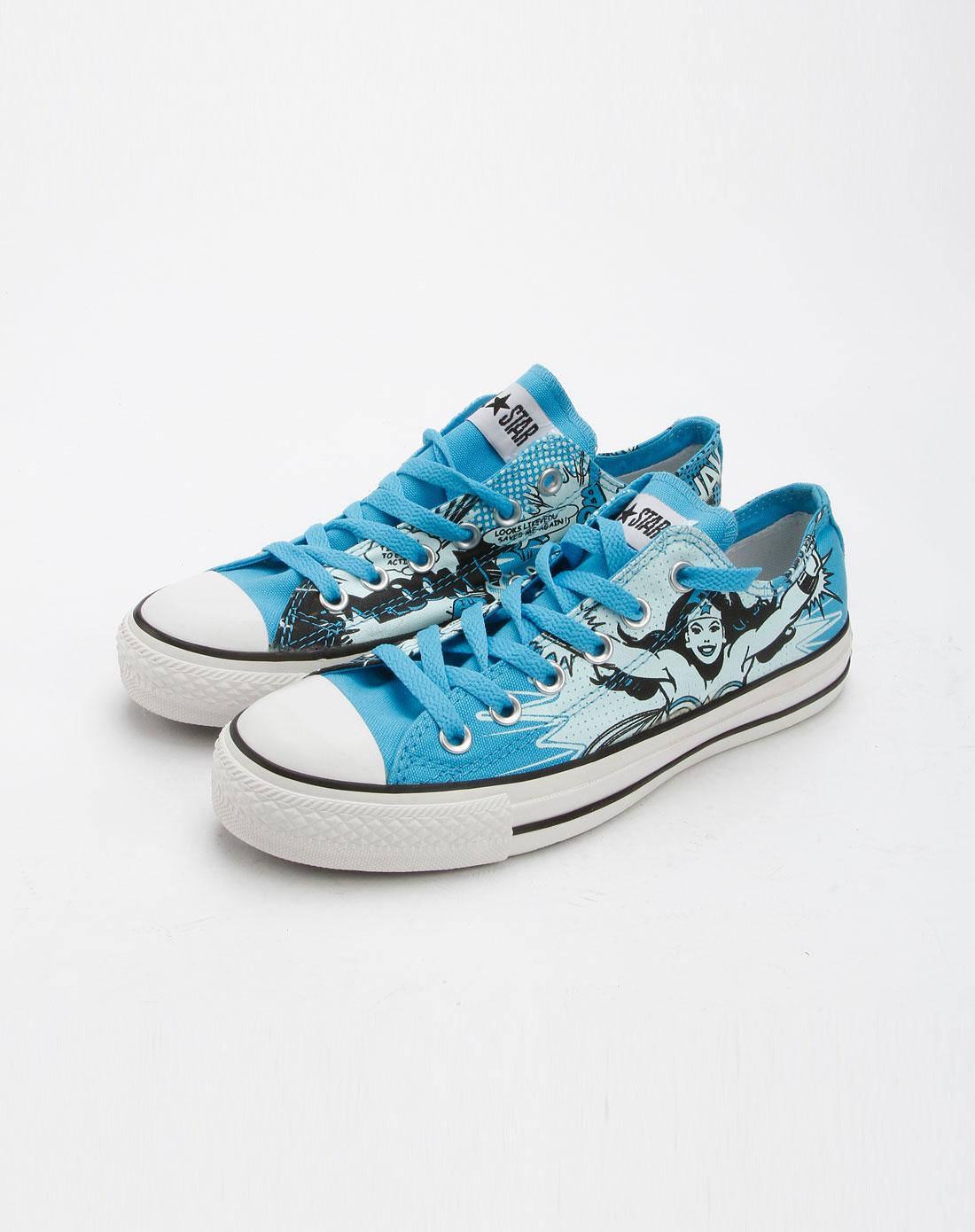 女款深蓝色卡通帆布鞋