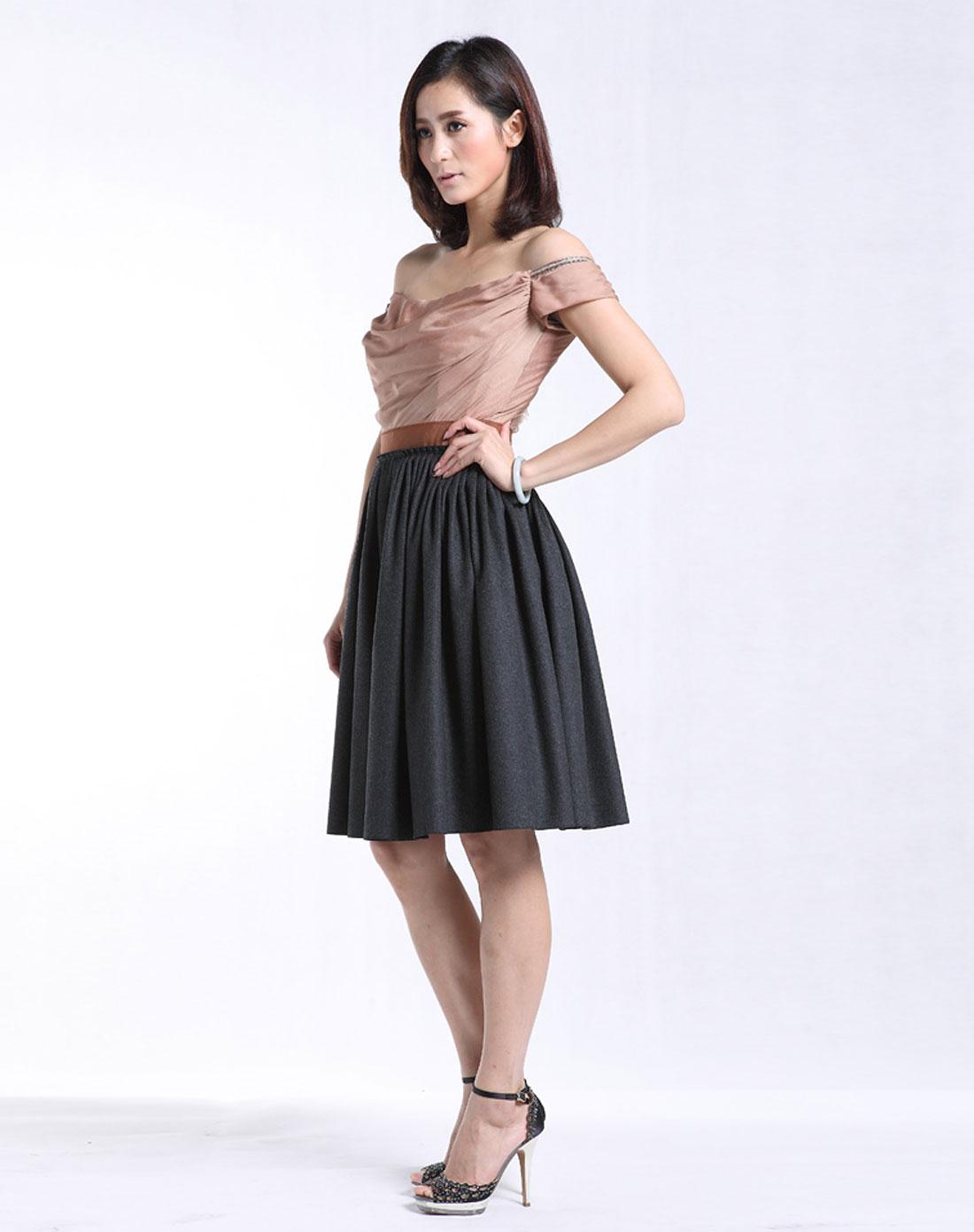 d&g 女优雅性感晚礼服式连衣裙