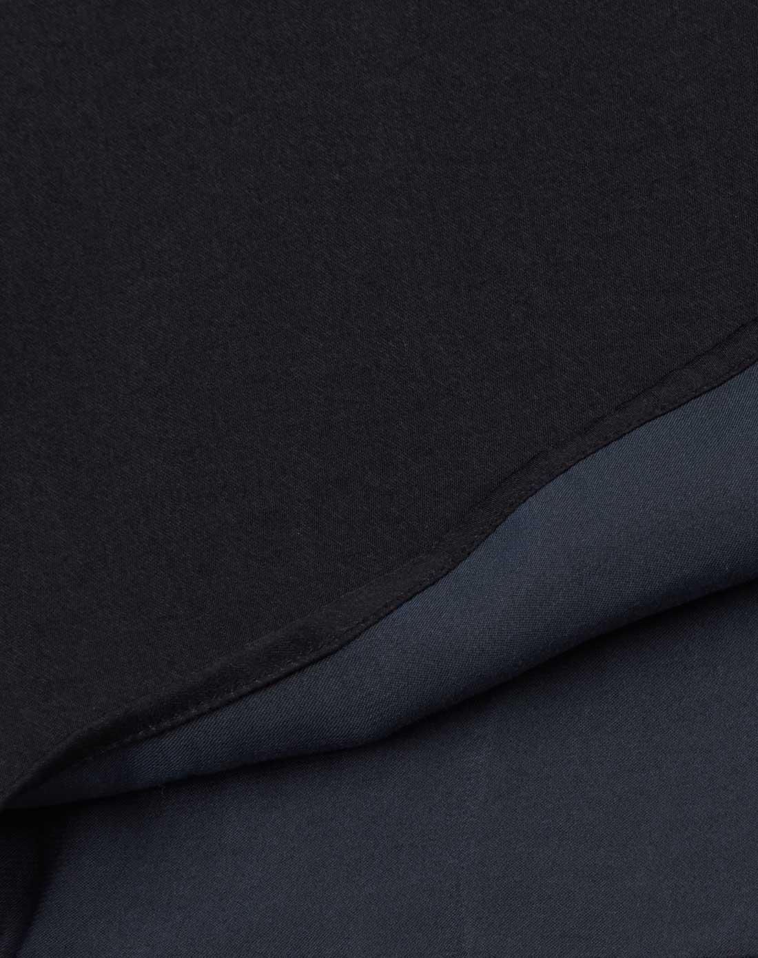 2015春季新款黑色纯色圆领长袖衬衫