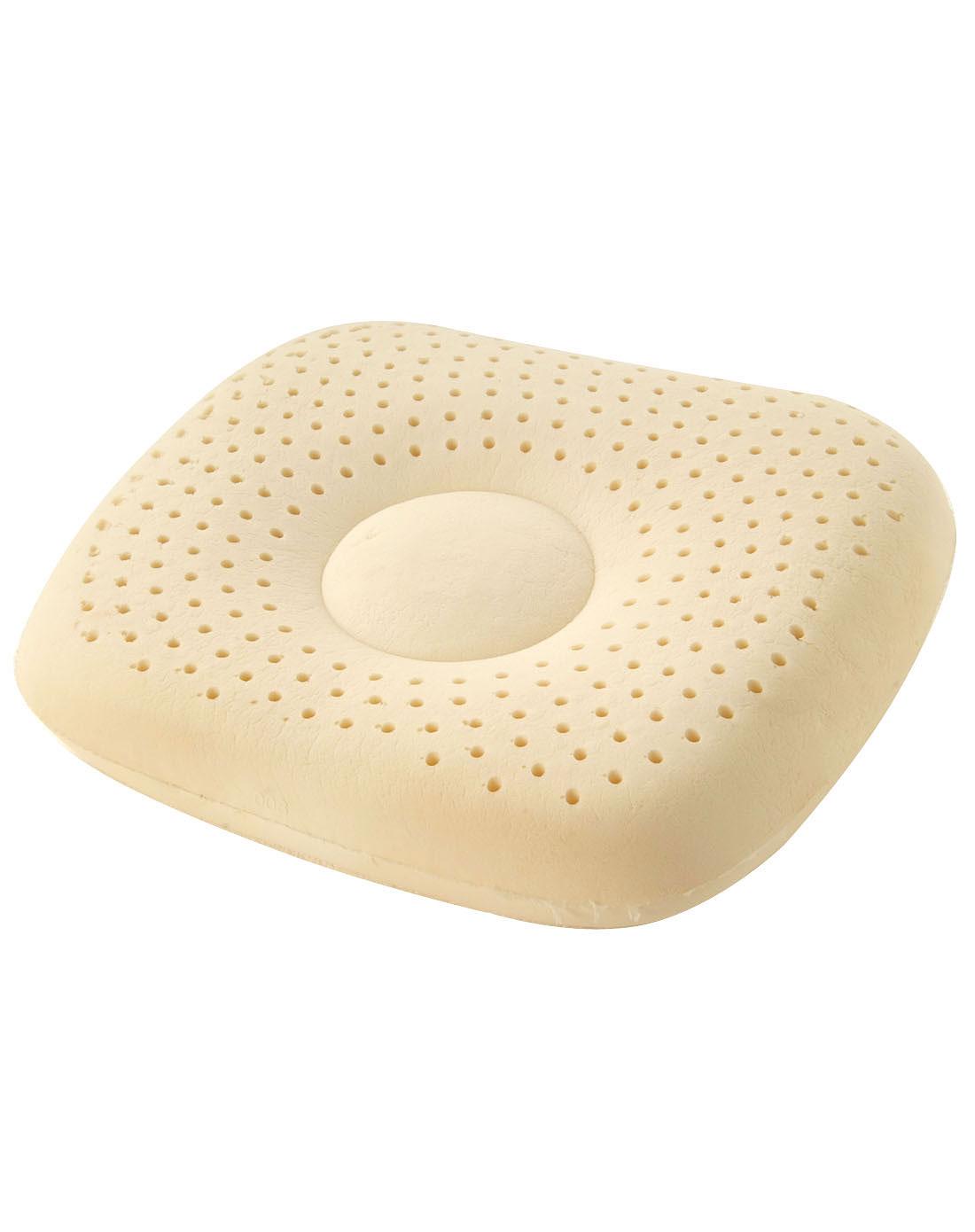 米白色天然乳胶婴儿定型枕