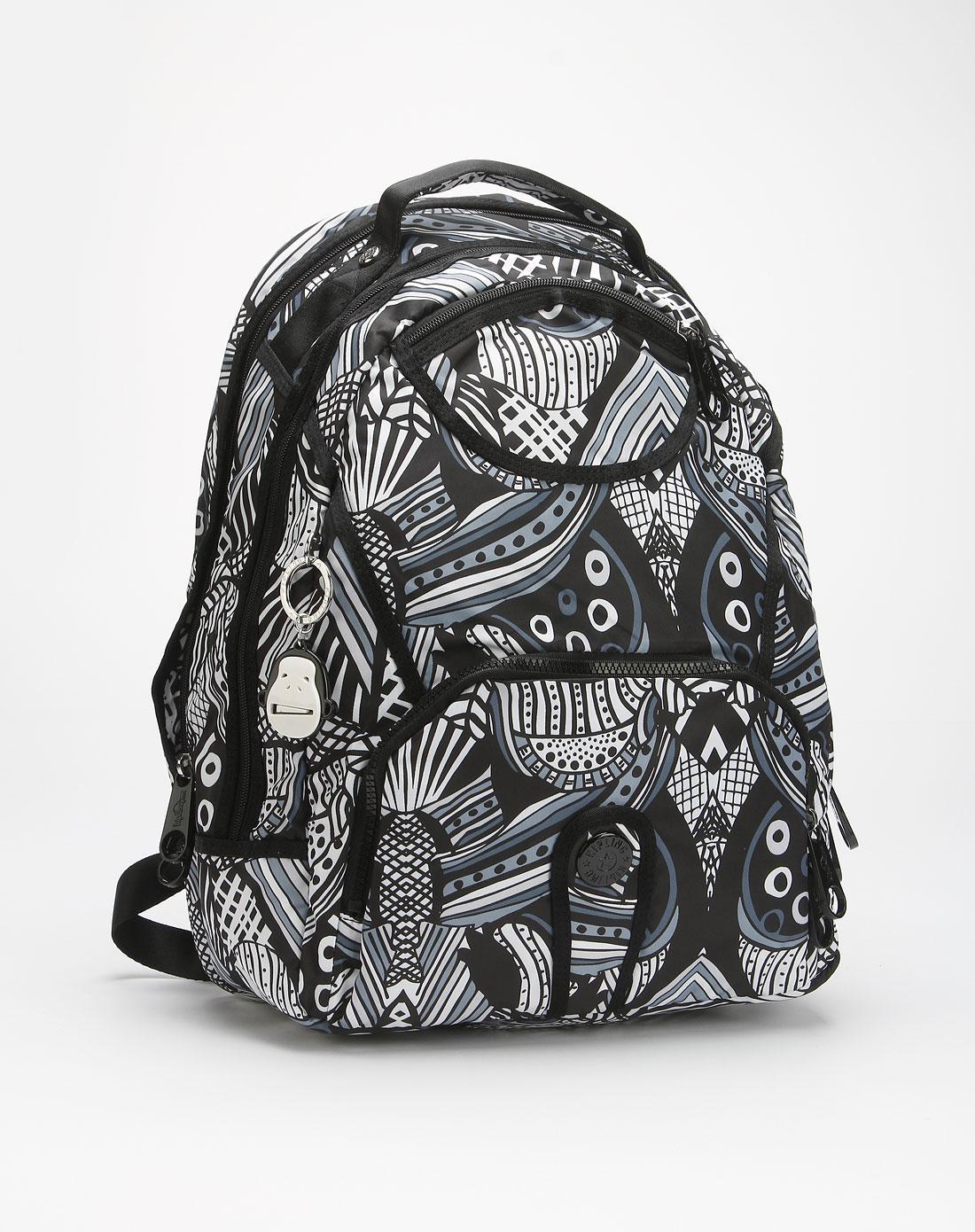 黑白色印花时尚背包