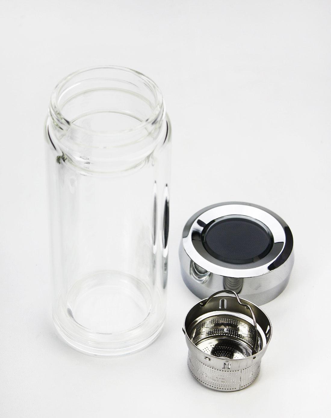 商务双层玻璃杯450ml