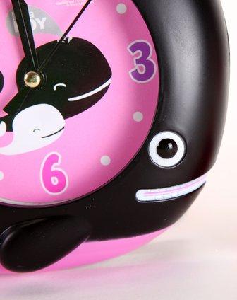 黑配粉紫色可爱小鲸鱼闹钟