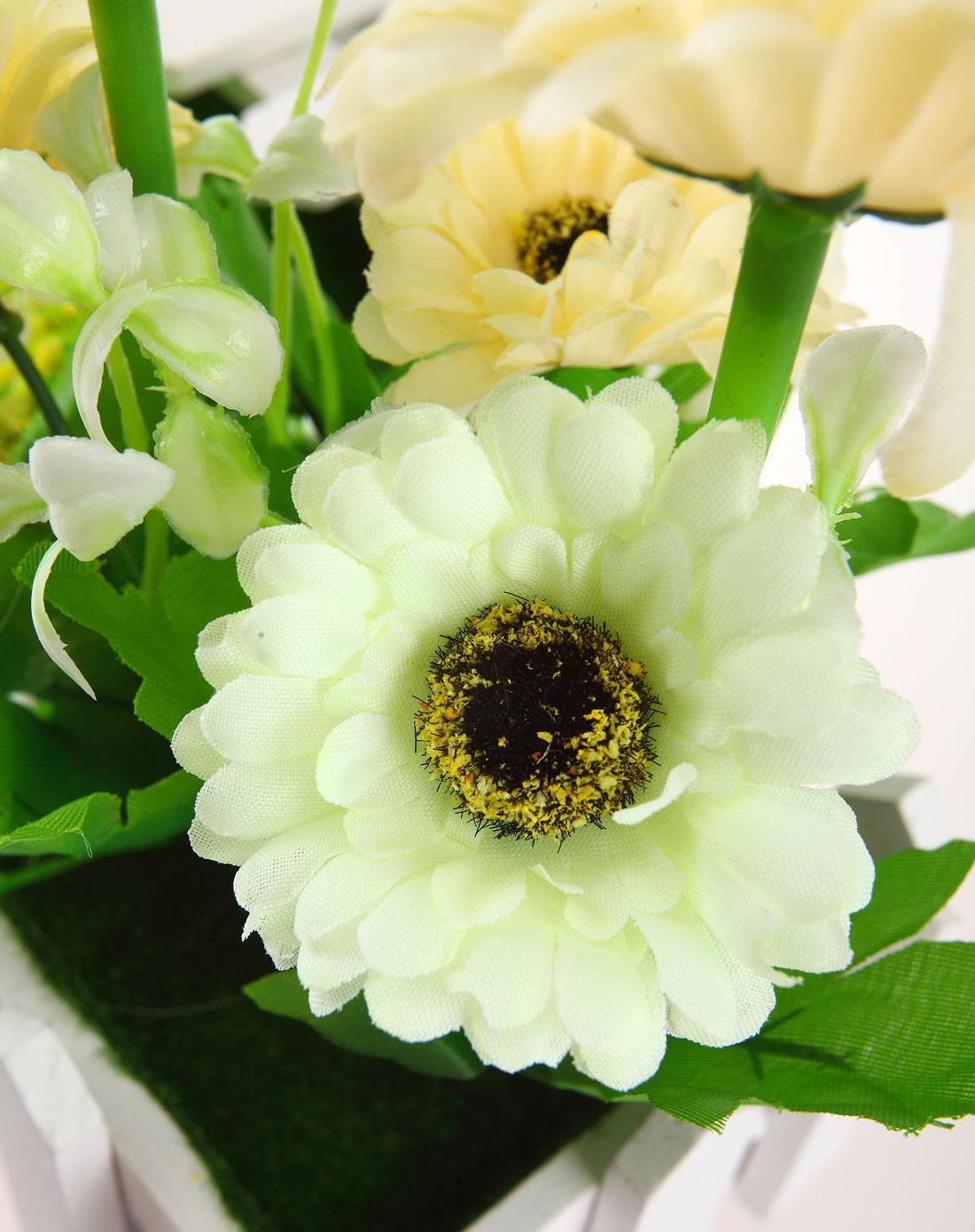 白色短款欧式白栅栏仿真装饰花