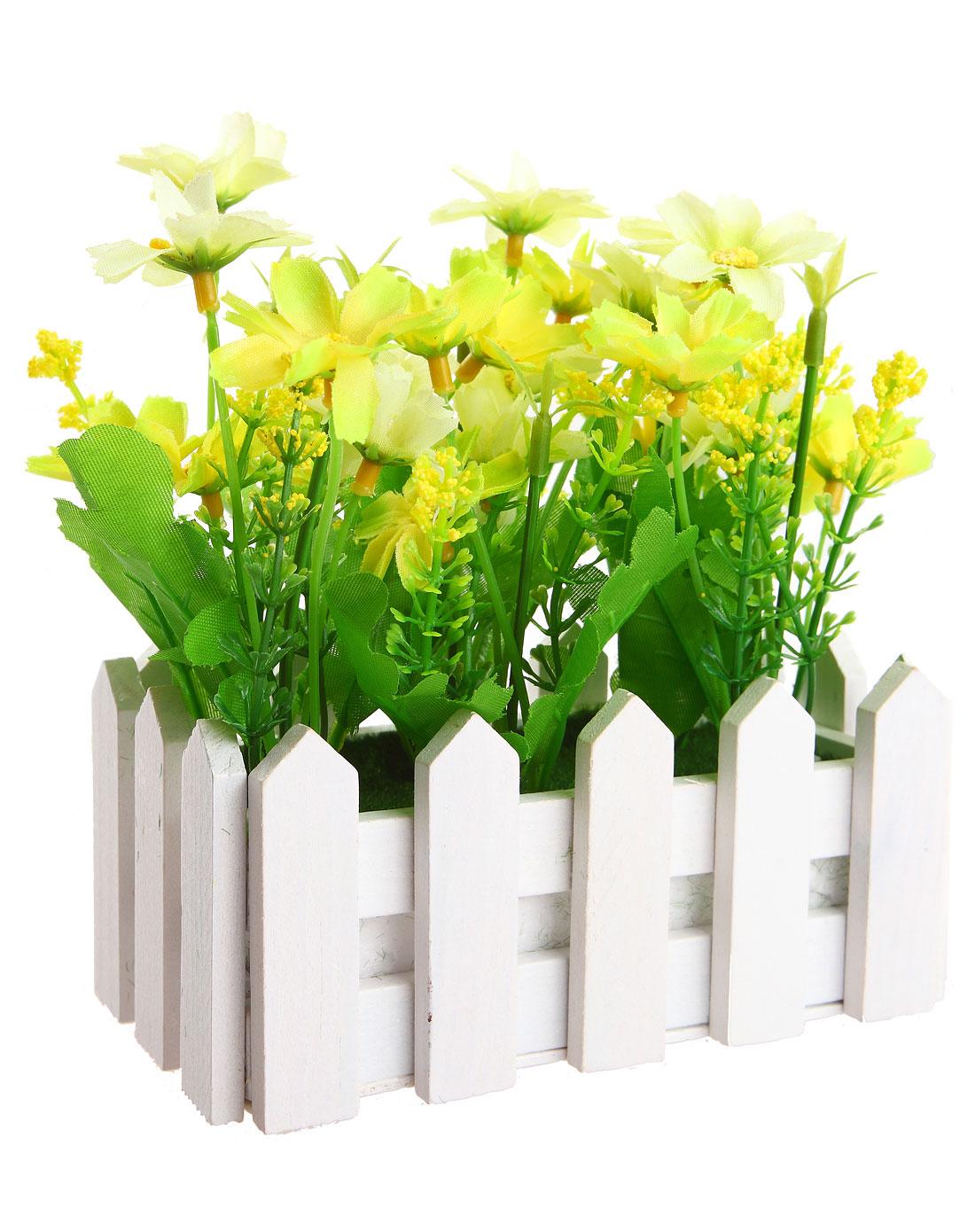 白色长款欧式白栅栏仿真装饰花