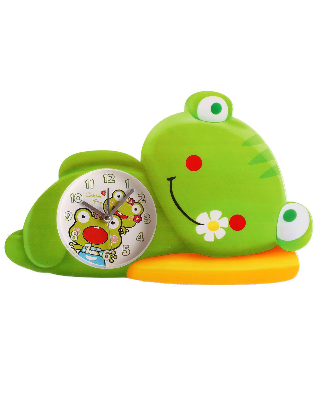 h&3家居用品专场绿色可爱睡眠青蛙卡通闹钟
