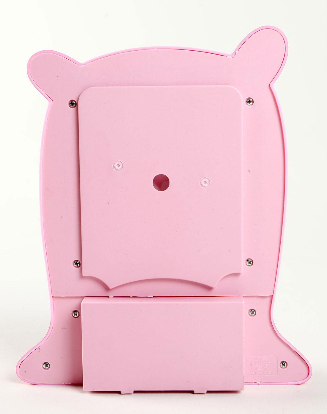 粉红色可爱卡通小猪造型相框