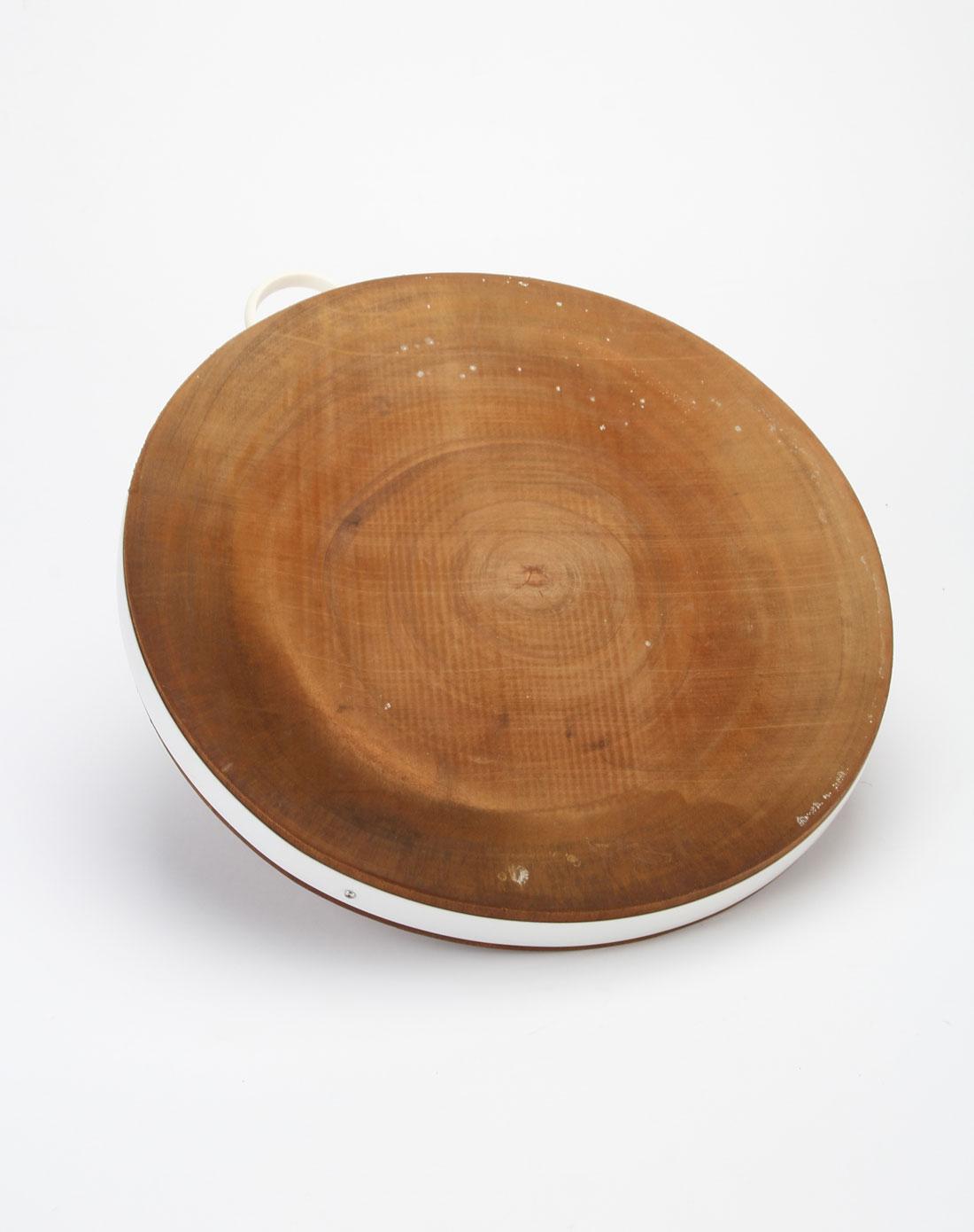 深木色进口金檀木原木砧板(圆)