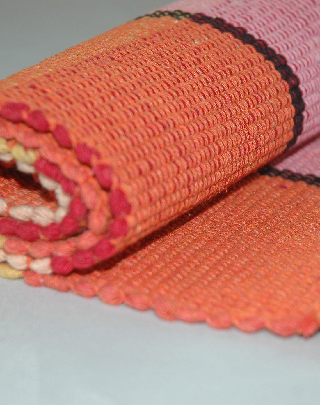 纯棉手工编织地垫脚垫60*90cm