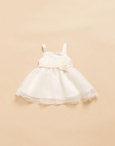 女童牙白色可爱小公主吊带礼服裙